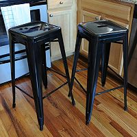 AmeriHome 2-piece Loft Metal Bar Stool Set