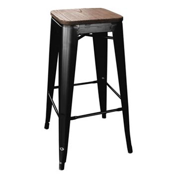 AmeriHome 4-piece Loft Black Metal Bar Stool Set