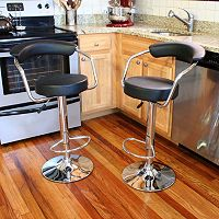 AmeriHome 2 pc Classic Elegant Bar Stool Set