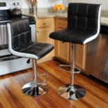 AmeriHome Modern Two Tone Bar Stool 2 pc Set