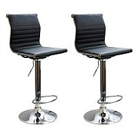 AmeriHome 2 pc Modern Sophisticated Bar Stool Set