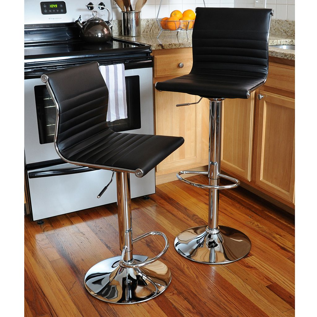 AmeriHome 2-piece Modern Sophisticated Bar Stool Set
