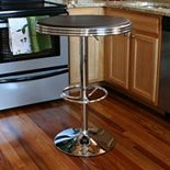 AmeriHome Retro Soda Shop Adjustable Table