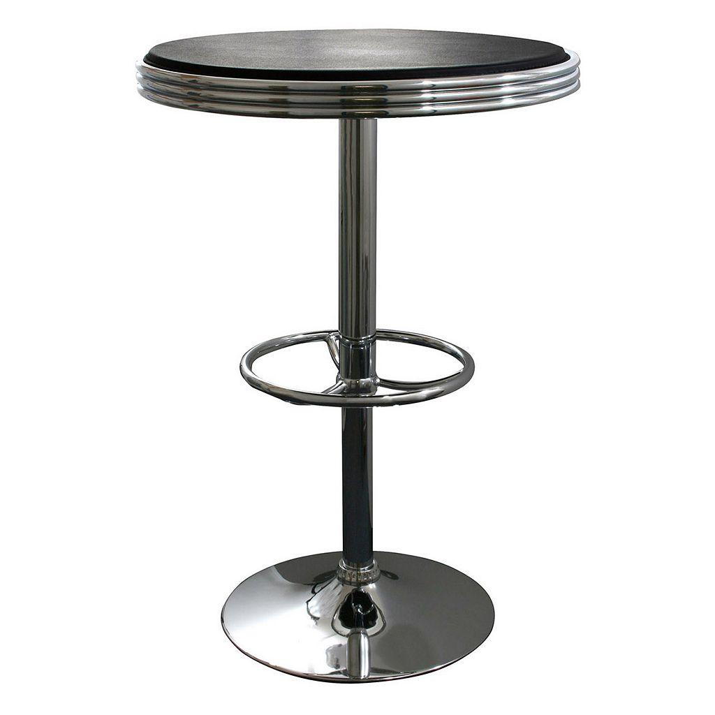 AmeriHome Retro Soda Shop Adjustable Table