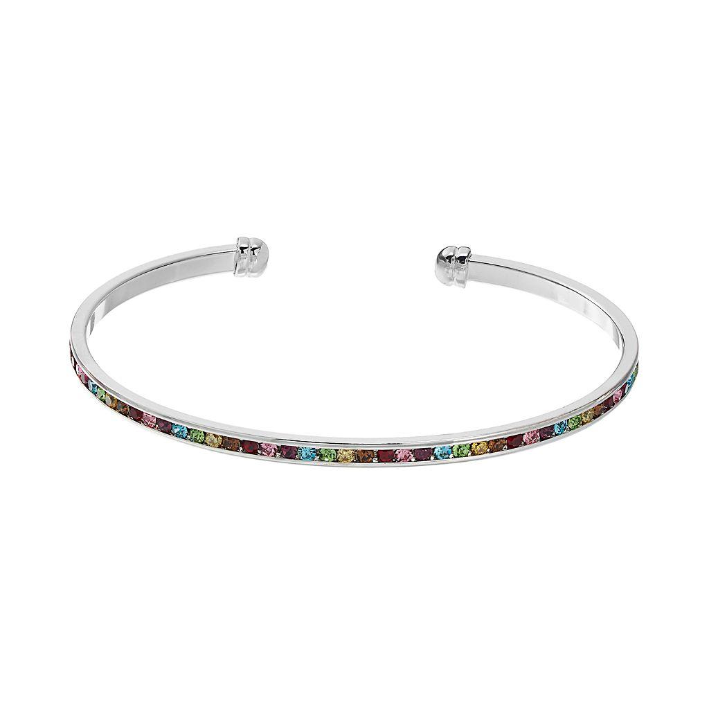 CITY ROX Multicolor Cubic Zirconia Cuff Bracelet