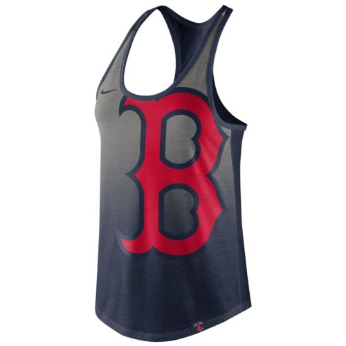Women's Nike Boston Red Sox Fade Racerback Tri-Blend Tank Top