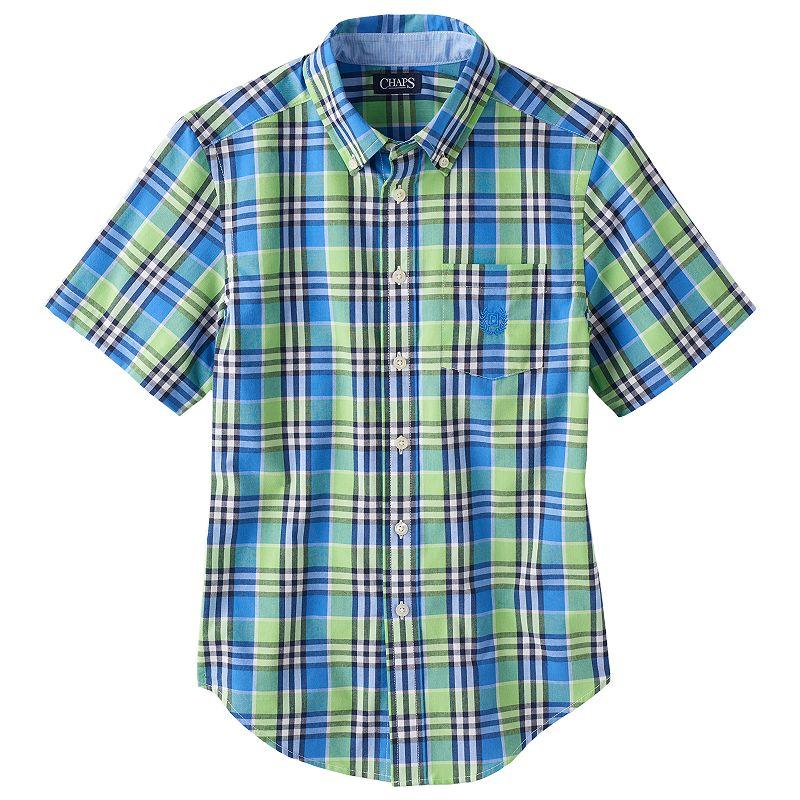 Boys 8-20 Chaps Large Plaid Button-Down Shirt
