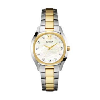 Bulova Women's Two Tone Stainless Steel Watch - 98P145
