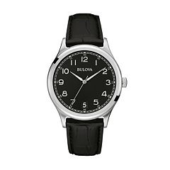 Bulova Men's Leather Watch - 96B233