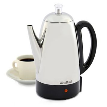 West Bend 12-cup Stainless Steel Electric Percolator