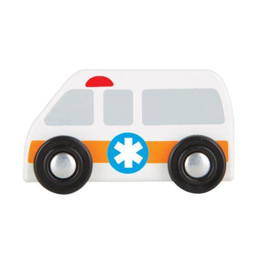 Melissa & Doug Round The City Rescue Rug & Vehicle Set