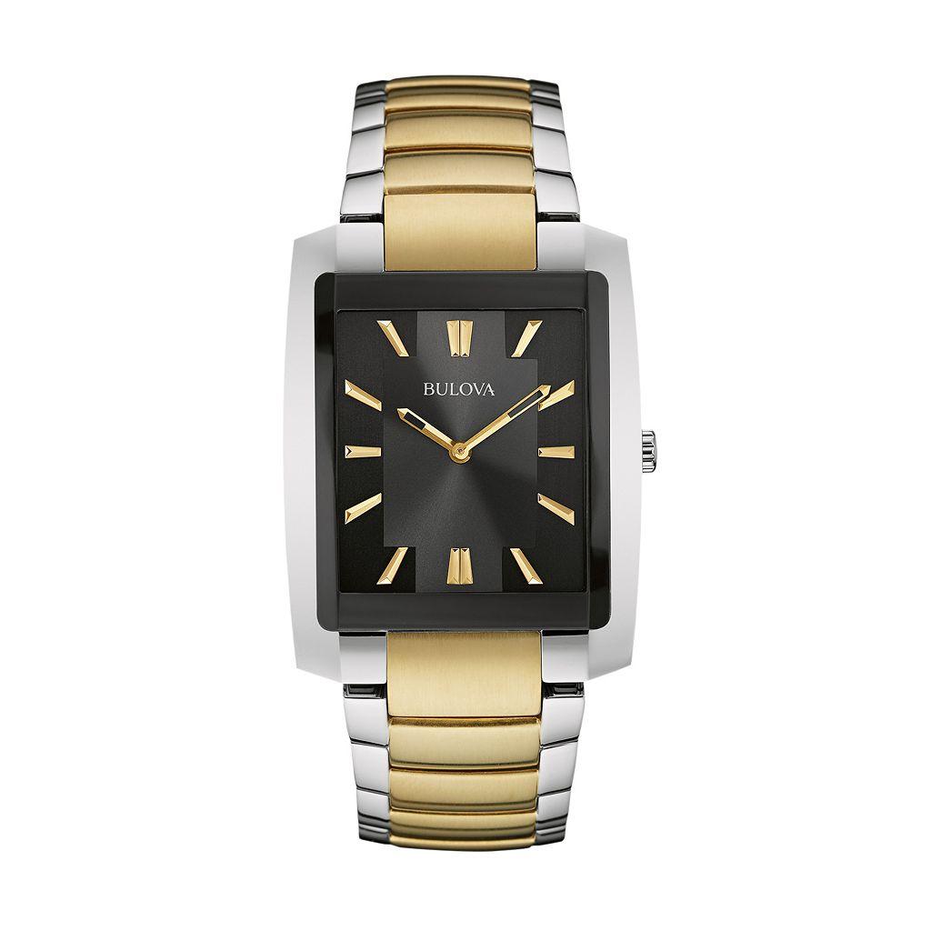 Bulova Men's Two Tone Stainless Steel Watch - 98A149