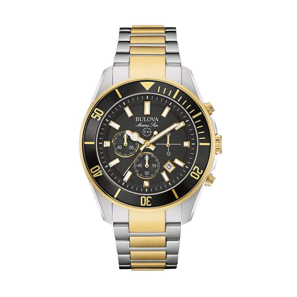 Bulova Men's Marine Star Two Tone Stainless Steel Chronograph Watch - 98B249