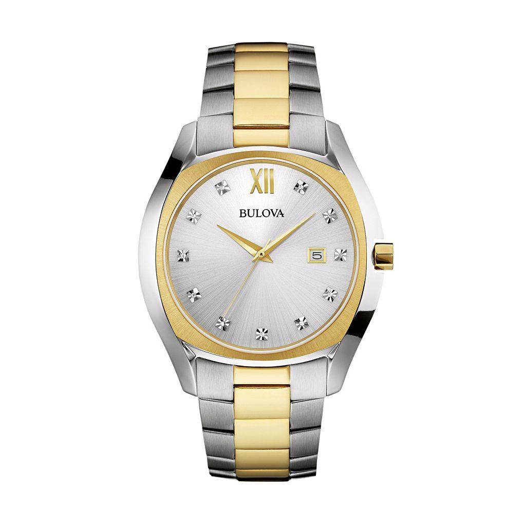 Bulova Men's Two Tone Stainless Steel Watch - 98D125