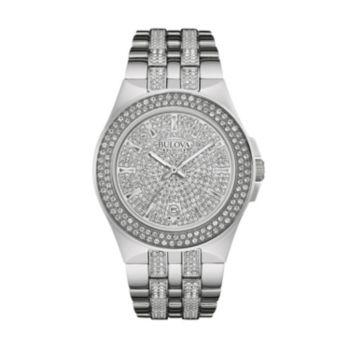 Bulova Men's Crystal Stainless Steel Watch - 96B235
