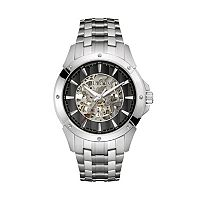 Bulova Men's Stainless Steel Automatic Skeleton Watch - 96A170