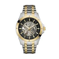 Bulova Men's Two Tone Stainless Steel Automatic Skeleton Watch - 98A146