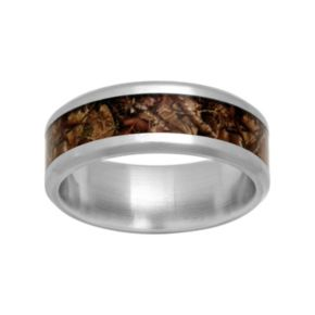 Men's Stainless Steel Camouflage Ring