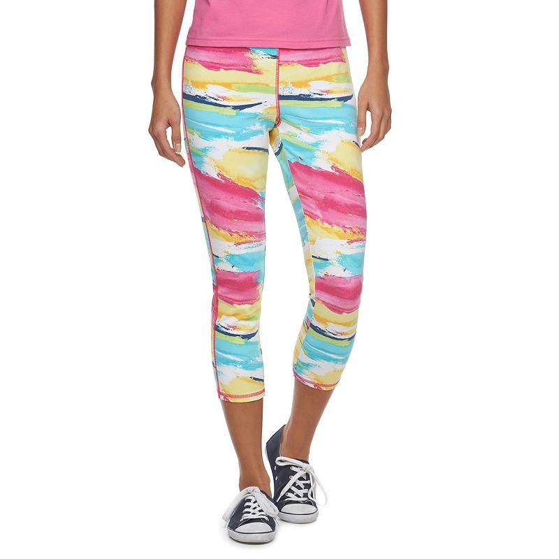 Women's Chaps SPORT Watercolor Capri Leggings