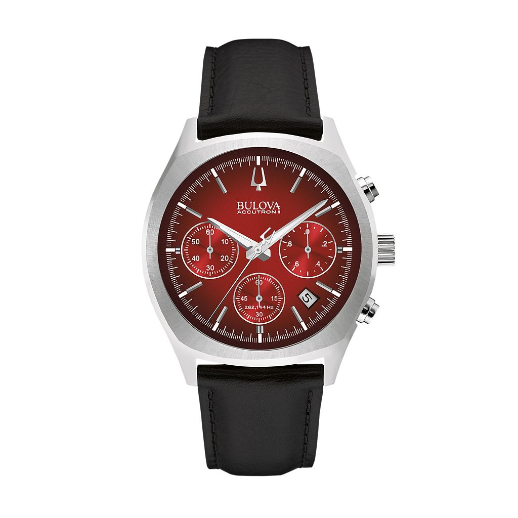 Bulova Men's Accutron II Leather Chronograph Watch - 96B238