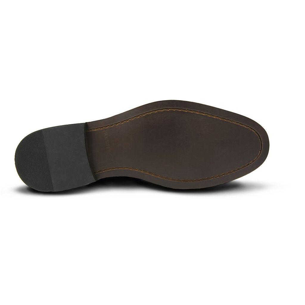 Nunn Bush Newton Men's Cap Toe Monk Strap Slip On Dress Shoes