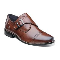 Nunn Bush Newton Men's Cap Toe Monk Strap Slip On Dress Shoes