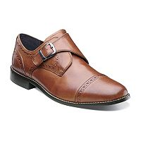 Nunn Bush Newton Men's Monk Strap Cap Toe Dress Shoes