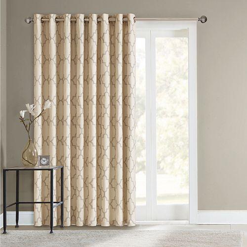 sonoma goods for life fret patio door curtain 100 39 39 x 84 39 39. Black Bedroom Furniture Sets. Home Design Ideas