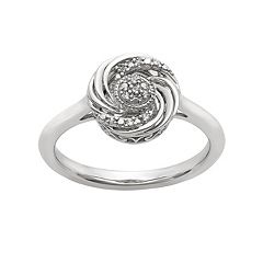 Simply Vera Vera Wang Diamond Accent Sterling Silver Swirl Ring