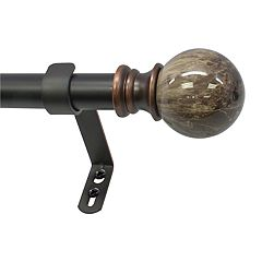 Decopolitan Marble Ball Adjustable Curtain Rod