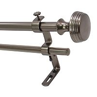 Decopolitan Knob Adjustable Double Curtain Rod