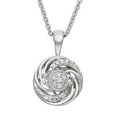 Simply Vera Vera Wang Diamond Accent Sterling Silver Swirl Pendant Necklace