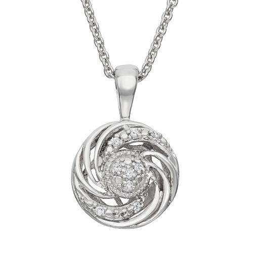 Simply Vera Vera Wang Diamond Accent Sterling Silver Swirl Pendant Necklace