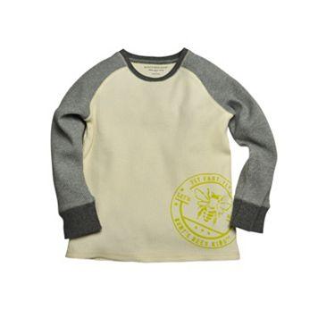 Baby Boy Burt's Bees Baby Organic Logo Raglan Thermal Tee