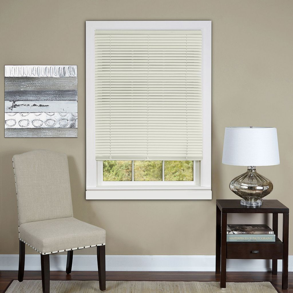 Deluxe Sundown Room Darkening Cordless 1'' Slat Vinyl Blinds