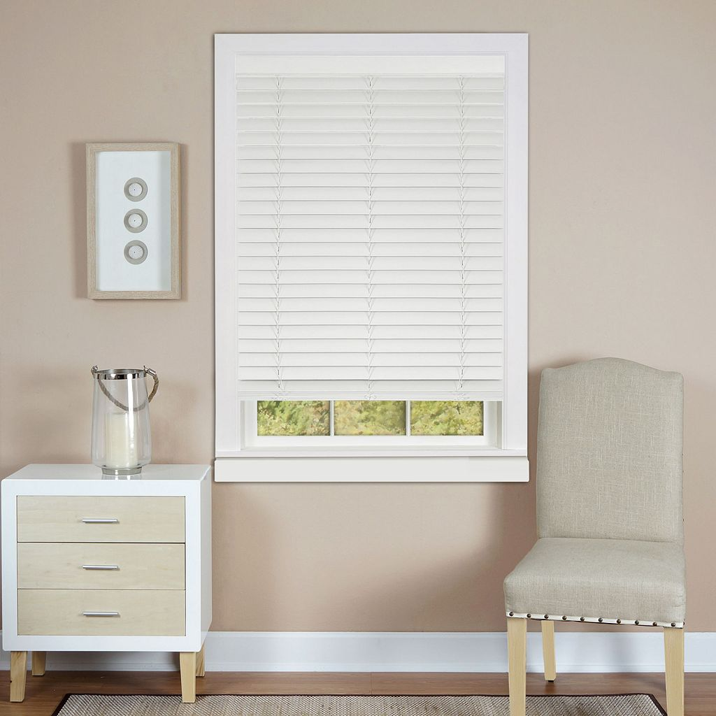 Madera Falsa Room Darkening Cordless 2'' Faux-Wood Plantation Blinds