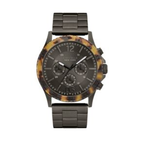 Caravelle New York by Bulova Men's Tortoise Shell Stainless Steel Chronograph Watch - 45A125