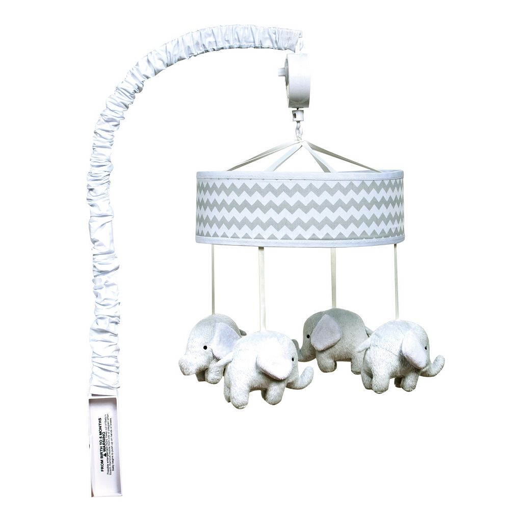 Trend Lab Chevron Elephant Musical Mobile