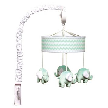 Trend Lab Cocoa Mint Elephant Musical Mobile