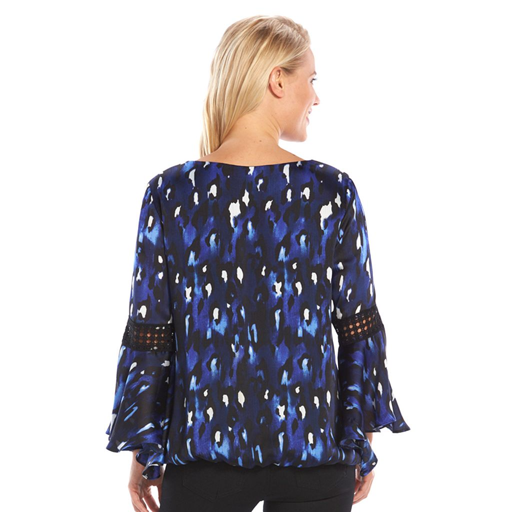 AB Studio Print Chiffon Top - Women's