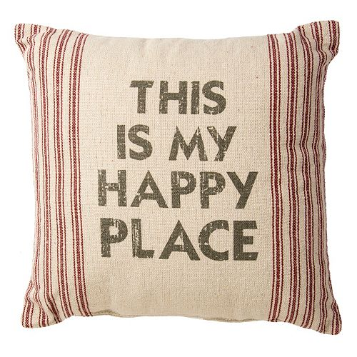 """""""This is my Happy Place"""" Throw Pillow"""