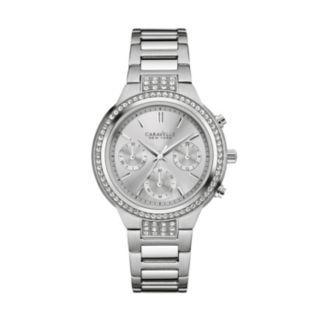 Caravelle New York by Bulova Women's Crystal Stainless Steel Chronograph Watch