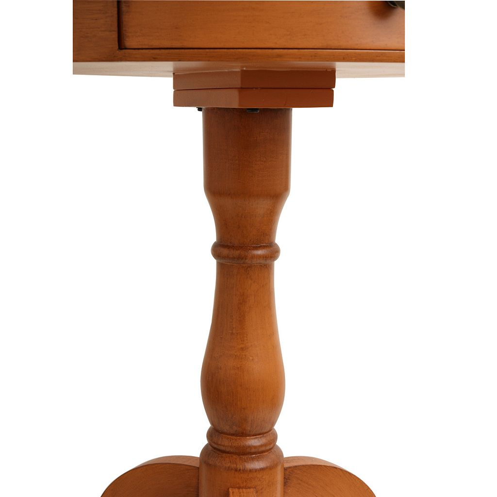 Decor Therapy Honey Pine Pedestal Table