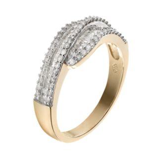 3/8 Carat T.W. Diamond 10k Gold Bypass Ring