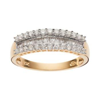 1/2 Carat T.W. Diamond 10k Gold Ring