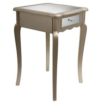 Decor Therapy Mirrored End Table