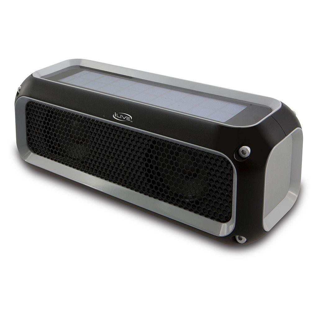 iLive Water-Resistant Solar Power Bluetooth Speaker