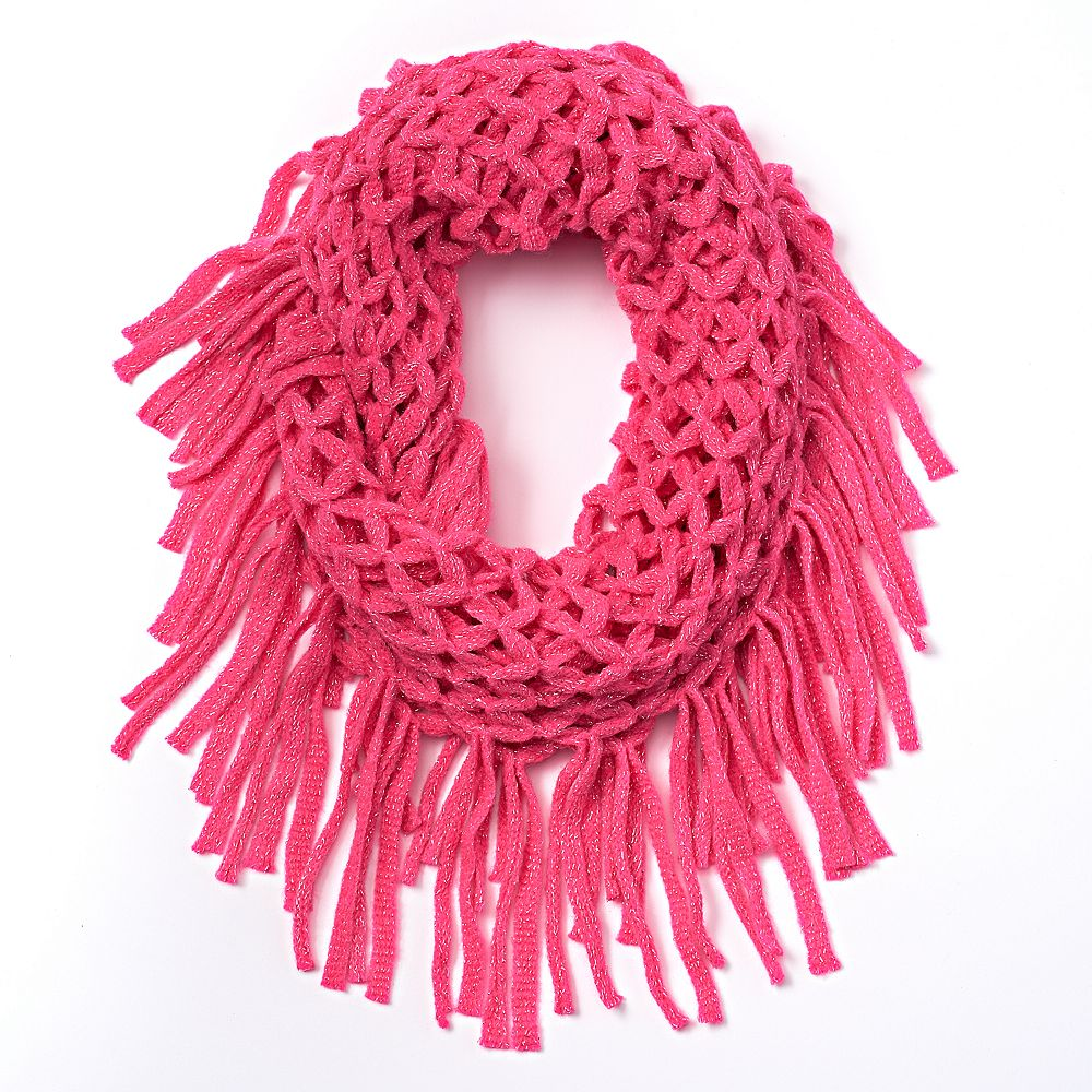 scarf pink tulip loop il hand in knit bright fashion listing dark circle infinity