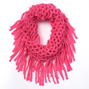 Girls Lurex Knit Infinity Scarf