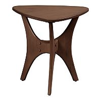 Madison Park Cedar Triangle Wood Side Table